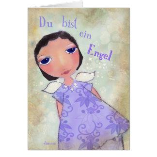 du bist ein Engel (you are an angel) in german Card