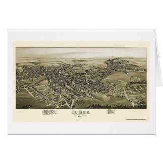 Du Bois, PA Panoramic Map - 1895 Card