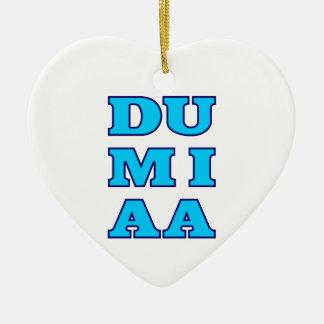 Du mi aa Du mich auch bayrisch Bavaria Ceramic Heart Ornament