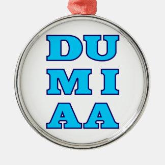 Du mi aa Du mich auch bayrisch Bavaria Silver-Colored Round Ornament