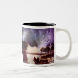 Du Puigaudeau: Fireworks over the Port Two-Tone Coffee Mug