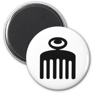 Duafe | Adinkra Symbol for Feminine Beauty 2 Inch Round Magnet