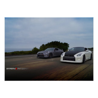 """""""Dual"""" 2 Nissan R35 on PCH Poster"""