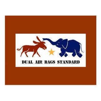 DUAL AIR BAGS STANDARD POSTCARD DEMOCRAT
