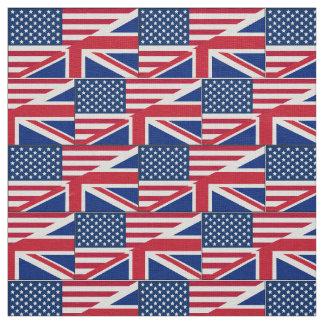 Dual Citizen American British Flag Fabric