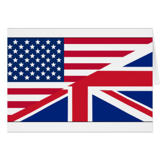 Dual Citizen American British Flag Note Card
