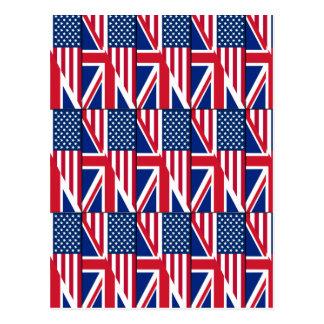 Dual Citizen American & British Flag Postcard