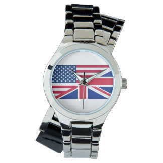 Dual Citizen American British Flag Womens Watch
