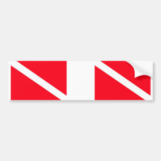 Dual Dive Flag Bumper Sticker