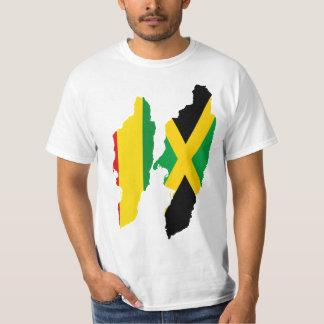 Dual Hearts, Jamaica and Rasta/Ethiopia T-Shirt