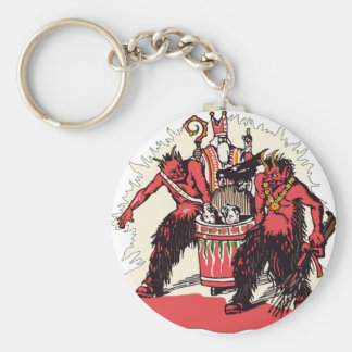 Dual Krampus and Old St. Nick Keychain