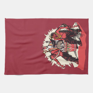Dual Krampus and Old St. Nick Kitchen Towel