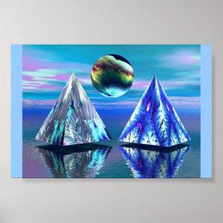 Dual Pyramid Lake Poster