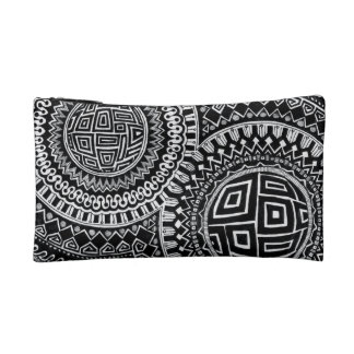 Dual-Sided Graphic Orbs/Tiles small make-up bag