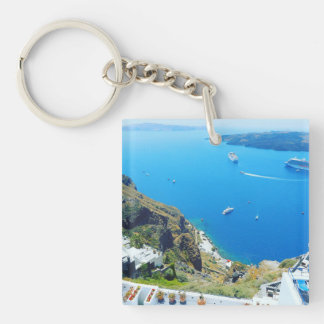dual sided greece keychain