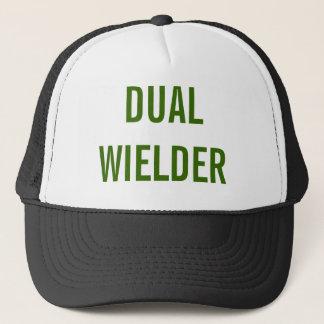"""Dual Wielder"" Funny Trucker Hat   Gamer Cap"