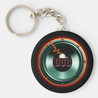 DUB RED HOT WOOFER t-shirts Keychain
