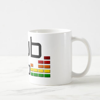 Dub Step Music with Stereo Equalizer Classic White Coffee Mug