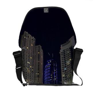 Dubai architecture at night commuter bags