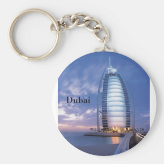 Dubai Burj Al Arab Hotel (by St.K) Basic Round Button Keychain