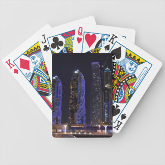 Dubai Cayan Tower at night Poker Deck