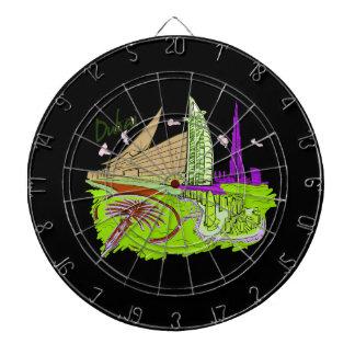 dubai city green graphic travel design.png dartboards