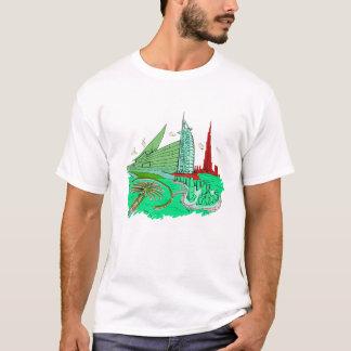 dubai city no txt green 2 graphic travel design.pn T-Shirt