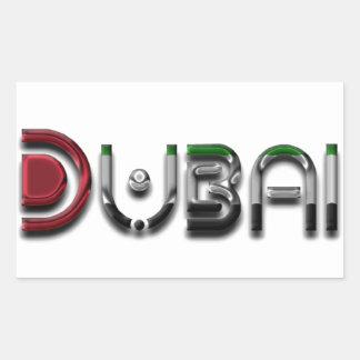 Dubai City UAE Flag Colors Typography