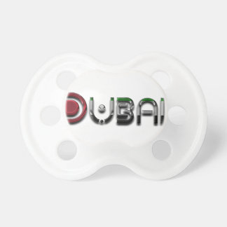 Dubai City UAE Flag Colors Typography Pacifier