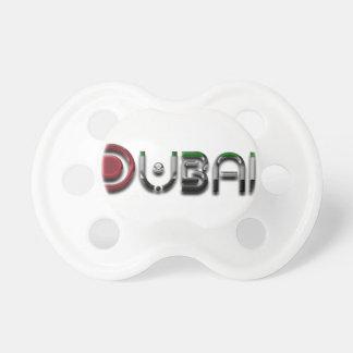Dubai City UAE Flag Colors Typography Pacifiers