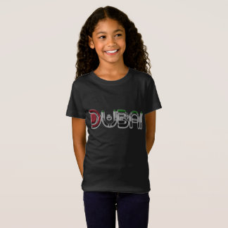 Dubai City UAE Flag Colors Typography T-Shirt