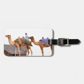 Dubai desert luggage tag