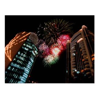 Dubai Fireworks Postcard