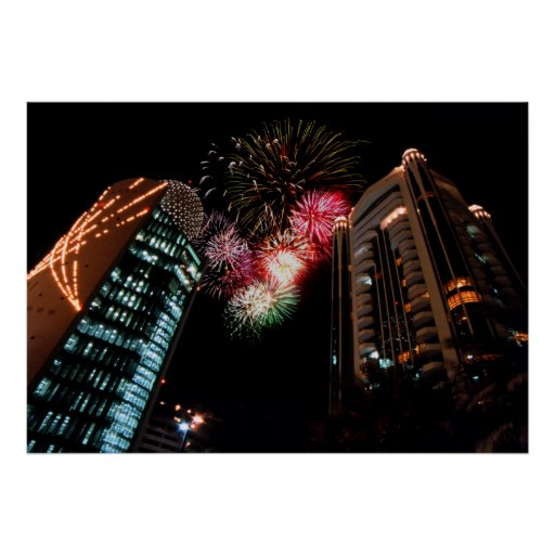 Dubai Fireworks Print