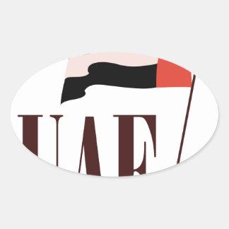 Dubai Flag UAE Oval Sticker