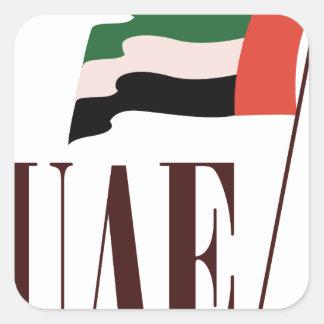 Dubai Flag UAE Square Sticker