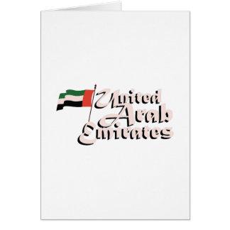 Dubai Flag United Arab Emirates Card
