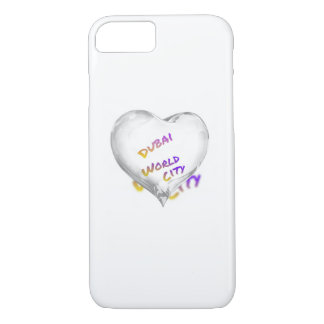 Dubai Heart, world city iPhone 8/7 Case