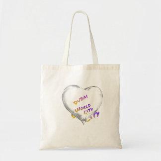 Dubai Heart, world city Tote Bag
