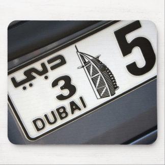 Dubai License Plate Mouse Pad