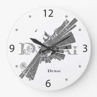 Dubai Map Clock