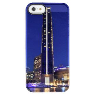 Dubai Marina architecture at night Clear iPhone SE/5/5s Case