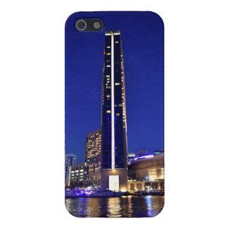 Dubai Marina architecture at night iPhone 5 Cover