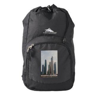 Dubai Marina architecture Backpack