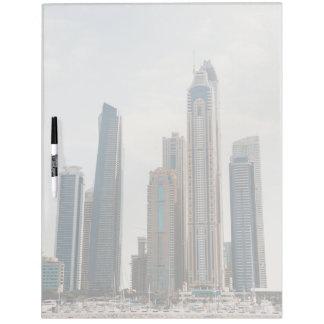 Dubai Marina architecture Dry Erase Board