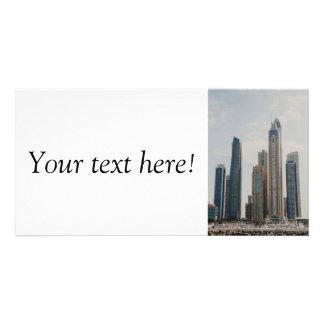 Dubai Marina architecture Photo Card Template