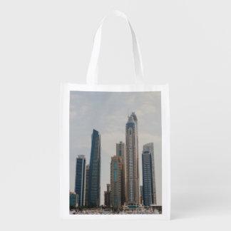 Dubai Marina architecture Reusable Grocery Bag