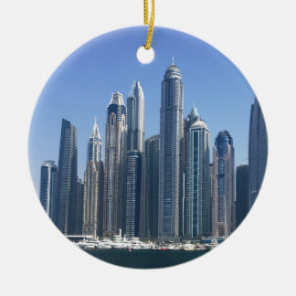 Dubai Sky Line Ceramic Ornament