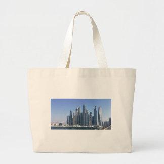 Dubai Sky Line Large Tote Bag