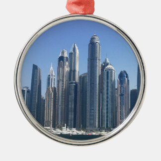 Dubai Sky Line Metal Ornament